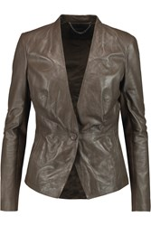 Muubaa Shaula Leather Jacket Nude