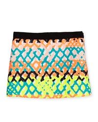 Milly Minis Jacquard Mini Skirt Multicolor Size 8 14 Girl's Size 8 Multi Colors
