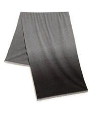 Vince Degrade Striped Scarf Grey