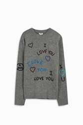 Kenzo Men S 1 Love Stitched Jumper Boutique1 Grey