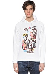 Dsquared Hooded Collage Printed Cotton Sweatshirt