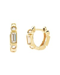 Crislu Hoop Earrings Gold