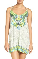 Maaji Women's 'Cockatoo Toon' Strappy Back Cover Up Dress