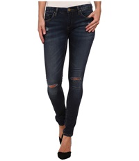 Blank Nyc Denim Blue Skinny W Rip Pros And Ex Cons Women's Jeans Black