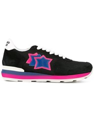 Atlantic Stars Lace Up Panelled Sneakers Black