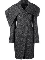 Just Cavalli Structured Double Breasted Coat Black