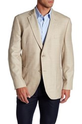 Kroon Brown Windowpane Two Button Notch Lapel Sport Coat