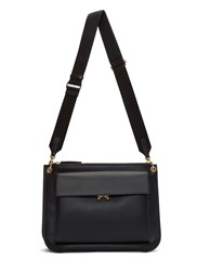 Marni Bandoleer Pocket Crossbody Bag Black