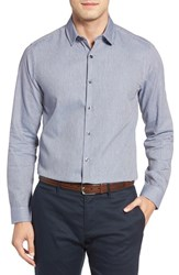 Robert Barakett Men's Gregory Slim Fit Dobby Sport Shirt