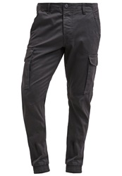 Jack And Jones Jack And Jones Jjakm Cargo Trousers Black Navy Dark Blue