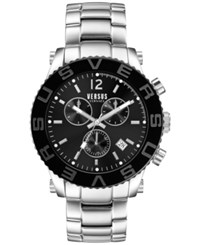 Versus By Versace Men's Chronograph Madison Stainless Steel Bracelet Watch 42Mm Soh020015 No Color