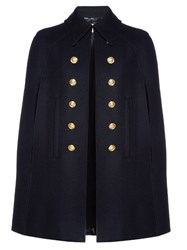 Saint Laurent Point Collar Cape Black
