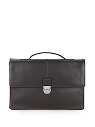 Cole Haan Leather Briefcase Chocolate