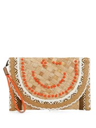 Anya Hindmarch Wink Basket Cluth Beige