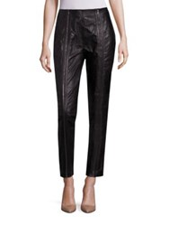 Bottega Veneta Cropped Leather Pants Dark Ardoise