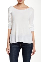 Inhabit Pointelle Long Sleeve Tee White