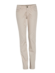 Morgan Slim Fit Jeans With Satin Sheen Beige