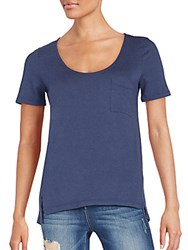 Splendid Short Sleeve Pocket Tee Navy