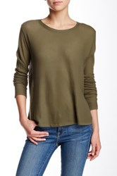 Inhabit Long Sleeve Crew Neck Tee Green