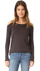 Chaser Shoulder Long Sleeve Tee Black