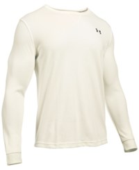 Under Armour Men's Waffle Textured Long Underwear Shirt Light Cream Heather