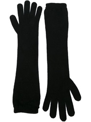 Moncler Long Gloves Black