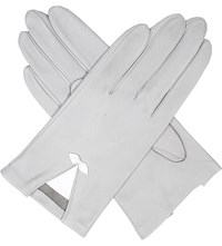 Dents Summer Bow Embellished Leather Gloves Dove White