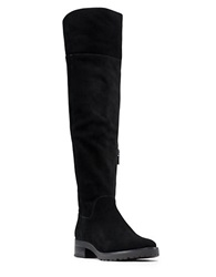 Michael Michael Kors Whitaker Sherpa Lined Suede Knee High Boots Black