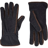 Barneys New York Men's Leather Trim Gloves Grey