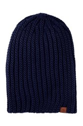 Timberland Chunky Slouchy Knit Beanie Blue