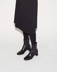 Jil Sander Venus Calf Ankle Boot Black