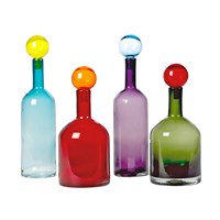 Pols Potten Bubbles And Bottles Set Of Four Glass Bottles