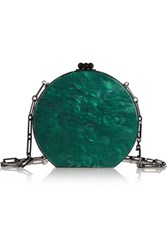 Edie Parker Oscar Acrylic Shoulder Bag Emerald