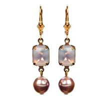 Passionate About Vintage Georgian Rhinestone Earrings In Amethyst Opal