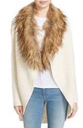 Joie Women's 'Helma' Wool And Yak Cardigan With Faux Fur Collar