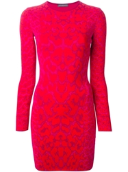 Alexander Mcqueen Leopard Print Dress Pink And Purple