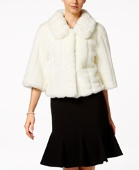 Calvin Klein Faux Fur Jacket White