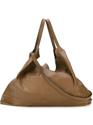 Marni Oversized Slouchy Shoulder Bag Brown