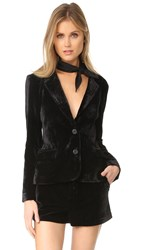 Cupcakes And Cashmere Toby Ultra Soft Velvet Blazer Black
