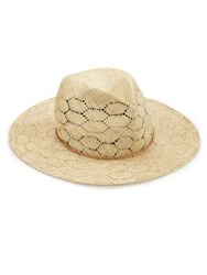 Rag And Bone Wide Brim Straw Fedora Natural