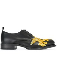Ann Demeulemeester Embroidered Lace Up Shoes Black