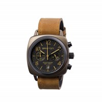 Briston Classic Chronograph Date Black Matte Dial And Brown Strap Multi