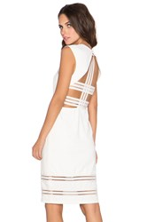 Lumier Strap Yourself In Open Back Midi Dress Ivory