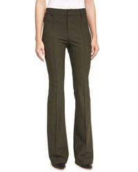 Veronica Beard Hibiscus High Rise Flare Pants Loden