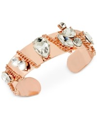 Inc International Concepts Crystal Chain Cuff Bracelet Only At Macy's Rose Gold