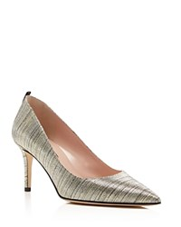 Sjp By Sarah Jessica Parker Fawn Metallic Pointed Toe Pumps Silver