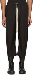 Rick Owens Black Cropped Drawstring Lounge Pants