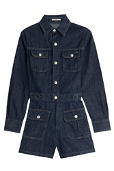 Alexa Chung For Ag Loretta Denim Playsuit