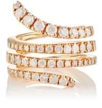 Roberto Marroni Women's Opaque White Diamond Snake Ring No Color