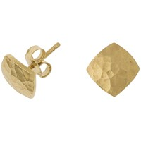 Dower And Hall 18Ct Gold Vermeil Flat Square Stud Earrings